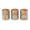 "Benzara Outstanding Metal Tree Votive Holder Set Of 3 4""W, 5""H"