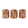 "Exclusive Metal Tree Votive Holder Set Of 3 3""W, 3""H"