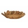 "Benzara Teak Wood Leaf Plate 20""W, 5""H"