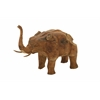 "Benzara Teak Wood Elephant 24""W, 15""H"