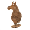 Artistic Teak Camel Head, Light Brown