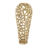 Marvelous Aluminum Decorative Gold Vase, Gold