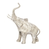 Chic Looking Aluminum Elephant, Silver