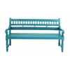 Mahogany Wooden Bench In Turquoise Blue For 3-4 Persons