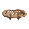 Benzara Plate With Hole In Pure Teak Construction For Dining Table