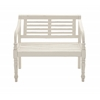 Lovely And Comfortable Wood White Bench