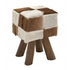 Benzara Distinctive Wood Square Brown Foot Stool