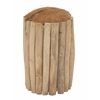 "Teak Branch Round Foot Stool 12""W,20""H"