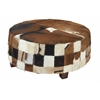 "Benzara Durable Wood Hide Large Ottoman 39""W, 18""H"