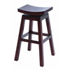 "Benzara Wooden 30"" Barstool With Solid Wooden Legs In Dark Finish"