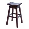 "Benzara Wooden 30"" Barstool With Solid Wooden Legs In Dark Finish"