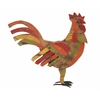 Contemporary Styled Multicolored Wood Metal Painted Rooster