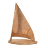 Chic Aluminum Wood Copper Sailboat, Copper, Brown