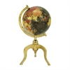 Amazing Aluminum Gold Globe, Multicolor