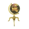 Functional Aluminum Gold Globe, Multicolor