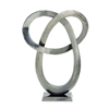 Artistic Aluminum Sculpture, Grayish Silver-