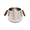 The Simple Stainless Steel Leather Wine Cooler
