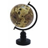 Benzara Contemporary Wooden And Metal Globe With Metallic Black Finish