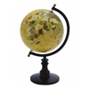 "Sophisticated Wooden And Metal 14"" Globe With Black Base"