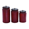 Benzara Simple Tera Cotta Jar No-Frill In Rusty Red Finish - Set Of 3