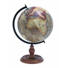 Benzara Wooden Globe With Distinctive Pattern In Rustic Color