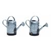 Benzara Assorted Metal Galvn Water Can With Rust Design - Set Of 2