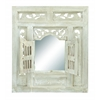 "Benzara Deco Wood Mirror Decor 28""H, 24""W"