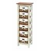 "Benzara Shabby Wood Rattan Cabinet 50""H, 16""W"