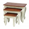 "Benzara Wood Nested Table Set/3 24"", 18"", 12""W Accent Collection"