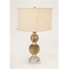Benzara Vogue Aluminum Wood Table Lamp