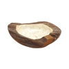 Stylish And Elegant Teakwood Small Size Bowl In Light Weight