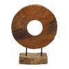 Benzara Durable Teak Wood Big Size Diyang Vase With Fabulous Shape