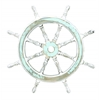 "Wood Ship Wheel 24""D Nautical Maritime Decor"