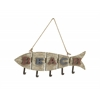 "Cute Wood Metal Fish Wall Hook 25""W, 18""H"