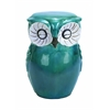 Long Lasting Ceramic Owl Shaped Stool With Sturdy Construction