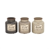 Charming Ceramic Family Jar 3 Assorted, Gray, Beige