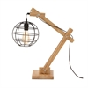 Wonderful Wood Table Lamp With Bulb, Natural wood & Black