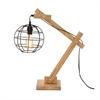 Wonderful Wood Table Lamp With Bulb, Natural wood & Black