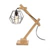 Delightful Wood Table Lamp With Bulb, Natural wood & Black