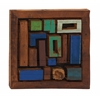 Like Tetris Wood Teak Wall Plaque