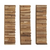 "Trendy Three In One Natural Set Of 3 Wood Block Panel 10""W, 35""H"