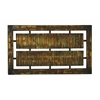 Benzara Decorative Durable Metal Wall Decor In Brown With Modern Design