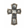 "Cross Shaped Wood Cross Photo Frame 24""W, 35""H"