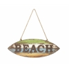 "Benzara Wood Rope Beach Wall Sign 25""W, 23""H"