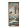 "Benzara Landscape Portray Wood Framed Canvas Art 22""W, 41""H"