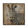 "Zebra Wood Framed Canvas Art 31""W, 31""H"