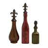 Benzara Simply Divine Glass Polystone Bottle Set Of 3