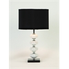 Benzara Artistic Metal Glass Table Lamp
