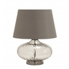 Uniquely Shaped Glass Metal Table Lamp