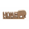 "Benzara Trendy Wood Home Elephant 12""W, 5""H"